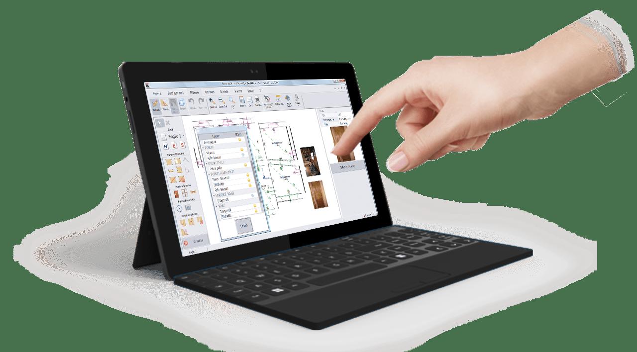 Rilievo edile Tablet - BlockNotus - ACCA software