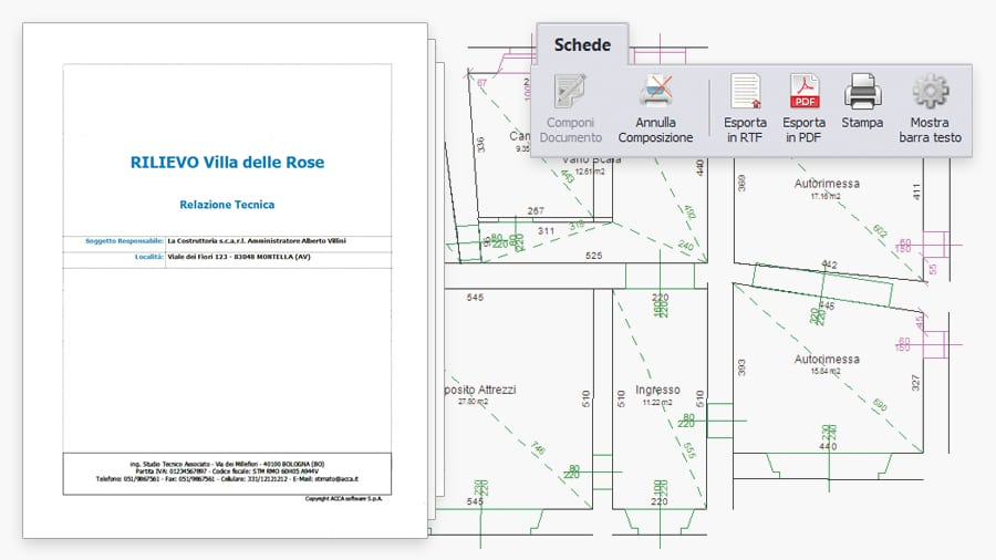 Relazione Rilievo - BlockNotus - ACCA software