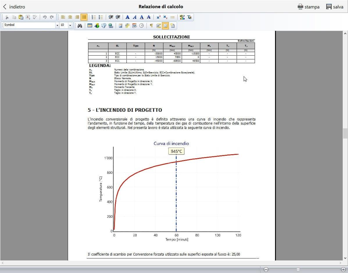 Relazione di calcolo della resistenza al fuoco - Calcolus-FUOCO