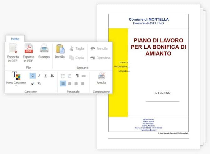 Stampa Piano Lavoro Amianto - CerTus-AMIANTO - ACCA software