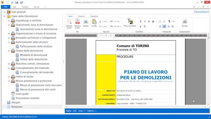 Software Piano delle Demolizioni - CerTus-DEMOLIZIONI - ACCA software