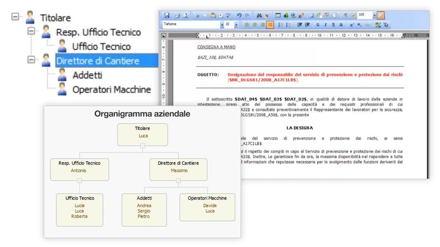 Planimetrie, organigrammi, mansionari aziendali - ACCA software