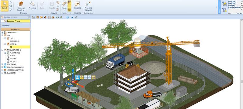Modellazione 3D del cantiere - Health & Safety BIM