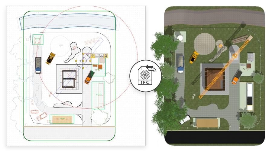 Importazione progetto cantiere in formato IFC