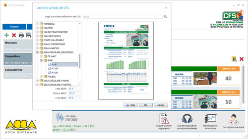Software Rischio Rumore di ACCA software