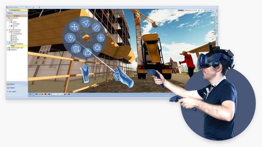 Visite virtuali in cantiere (Realà Virtuale Immersiva)