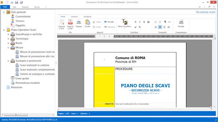Software Piano di Sicurezza Scavi | CerTus-SCAVI | ACCA software