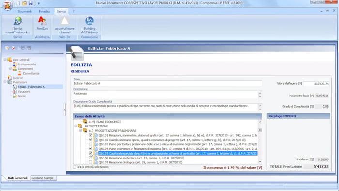 Software Calcolo Compensi Gratis - Compensus-LP FREE - ACCA software