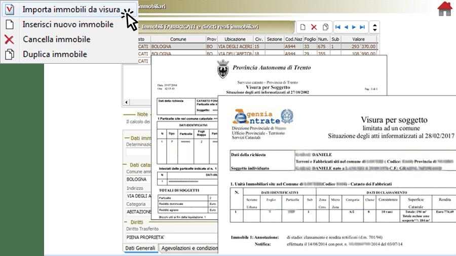 Importazione dati da visure catastali PDF