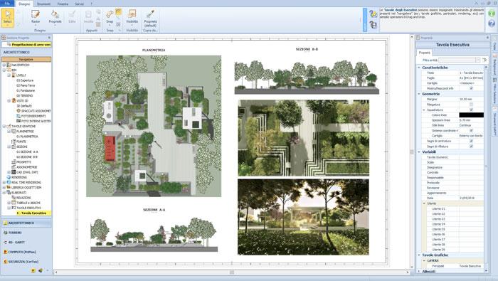 Software per la progettazione giardini - Edificius-LAND - ACCA software