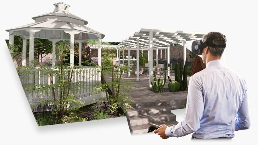 Software progettazione verde integrato con realtà virtuale immersiva
