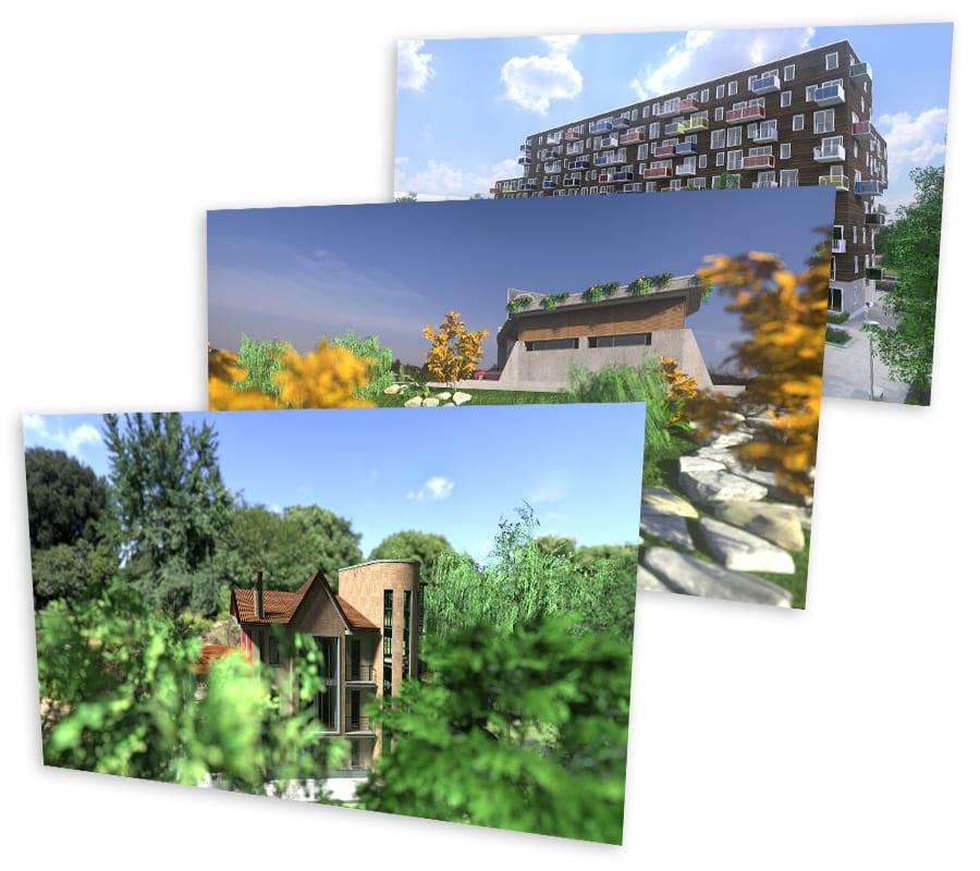 Rendering Giardini e Spazi verdi
