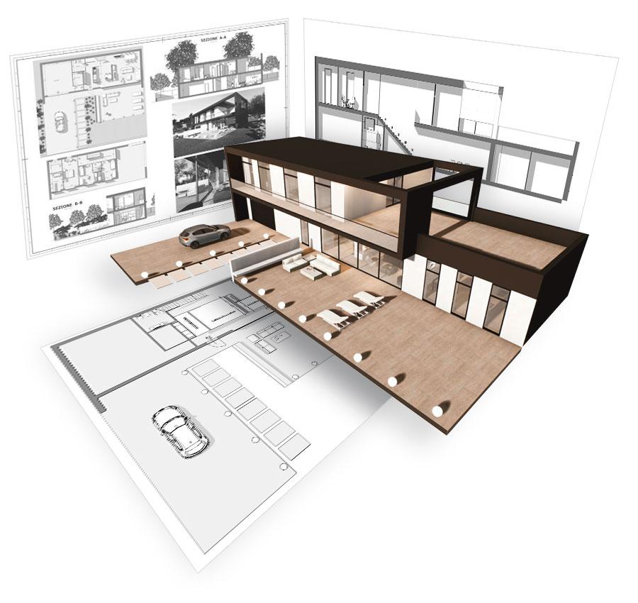 Progettazione architettonica 2D/3D di nuove costruzioni e ristrutturazioni