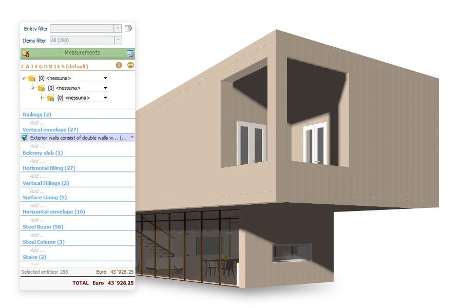 Integrazione con PriMus (computo metrico del progetto architettonico)