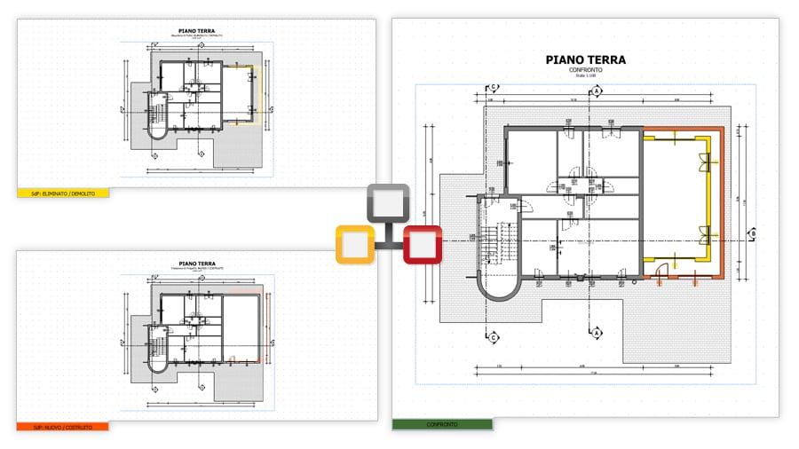Planimetrie Gialli e Rossi - Edificius