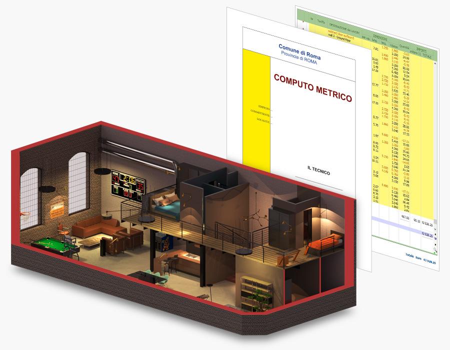Software progettazione di interni-Computo automatico | Edificius | ACCA Software