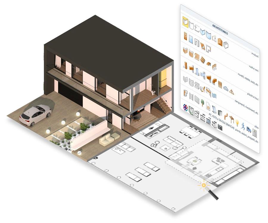 Software Progettazione 3D architettonica | Edificius | ACCA software