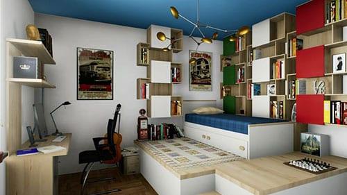 Esempio interior design camera per ragazzi | Edificius | ACCA Software