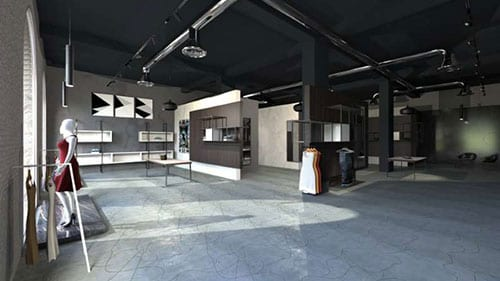 Esempio interior design negozio di abbigliamento | Edificius | ACCA Software