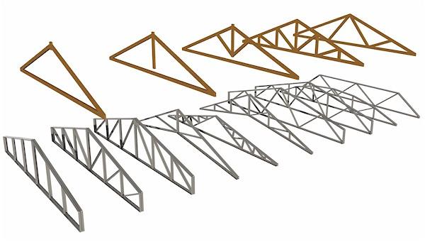 Capriate legno acciaio