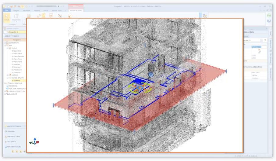 bim point cloud | Edificius | ACCA software