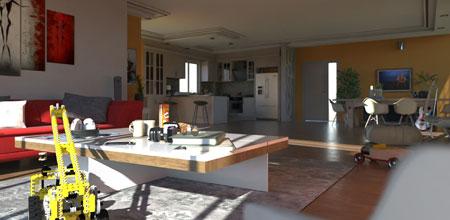 Esempio Rendering Room - Edificius+AIrBIM - ACCA software