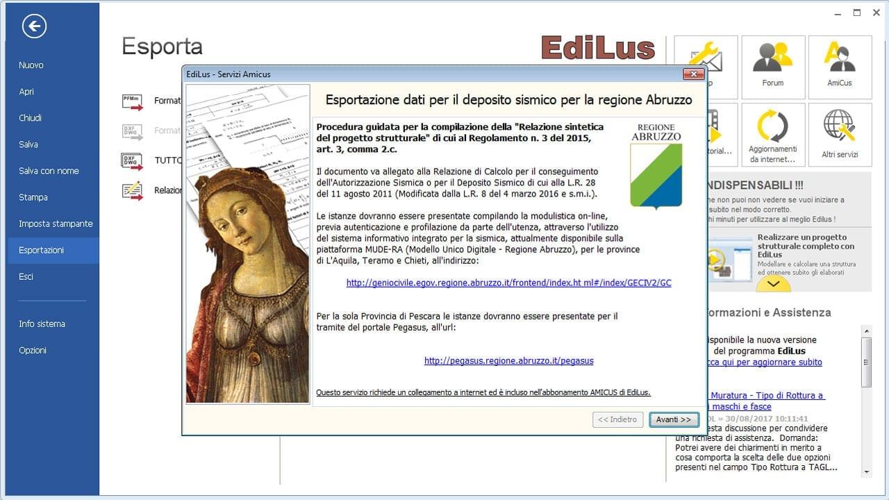 EdiLus-CA - Deposito Sismico Regione Abruzzo