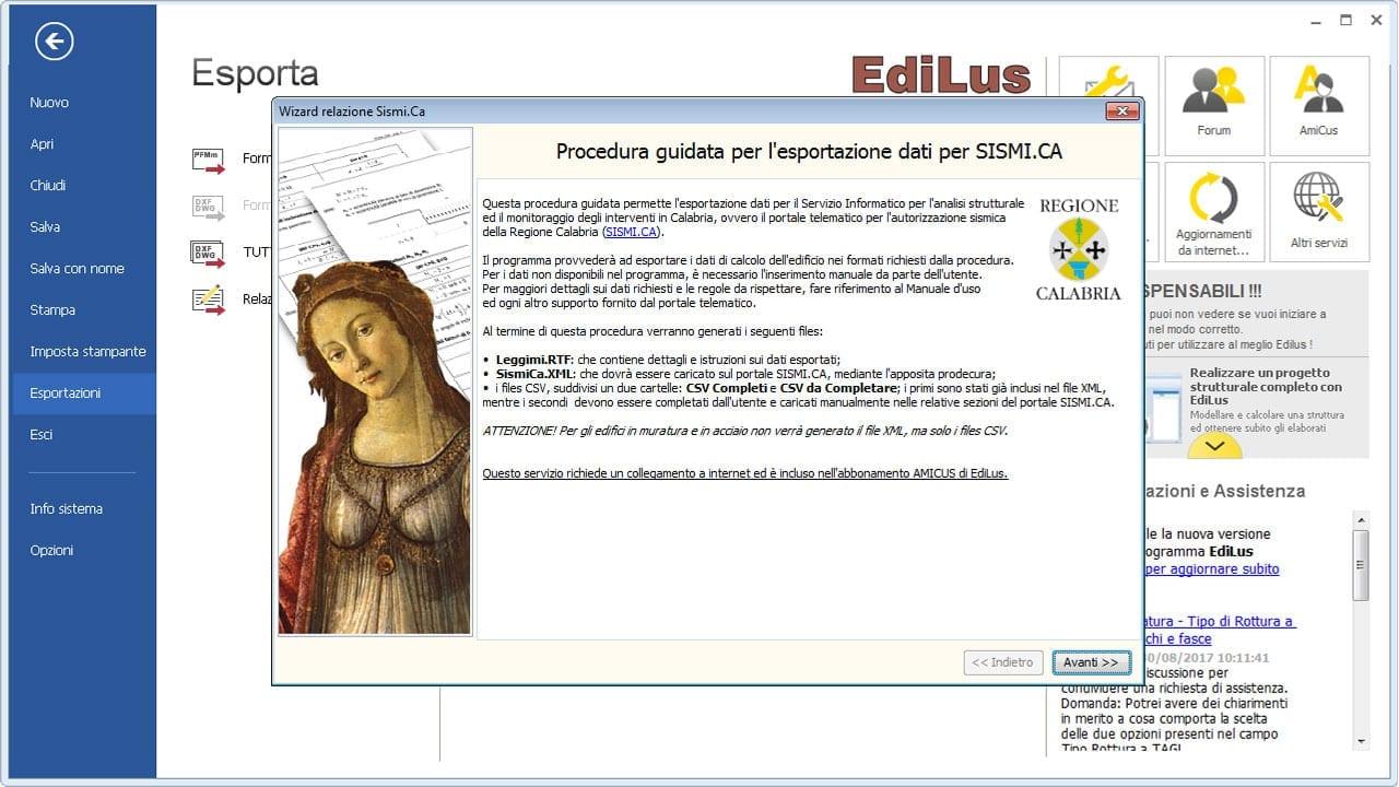 EdiLus-CA - Deposito Sismico Regione Calabria