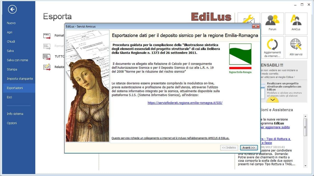 EdiLus-CA - Deposito Sismico Regione Emilia Romagna