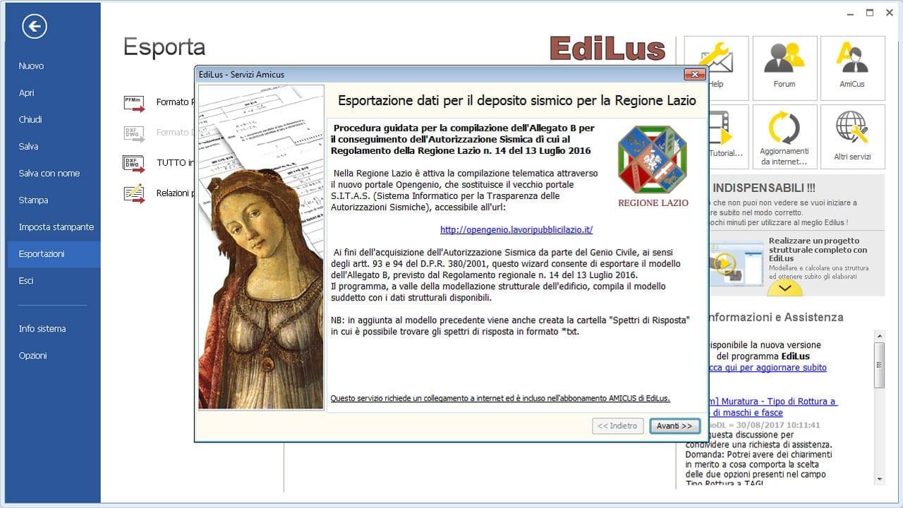 EdiLus-CA - Deposito Sismico Regione Lazio