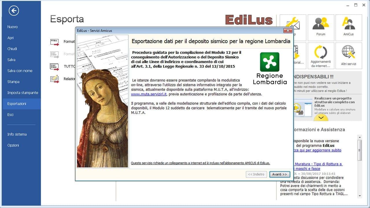 EdiLus-CA - Deposito Sismico Regione Lombardia