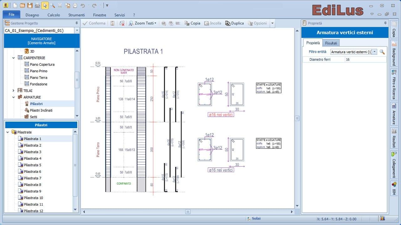 EdiLus-CA - Editor Armature Pilastri