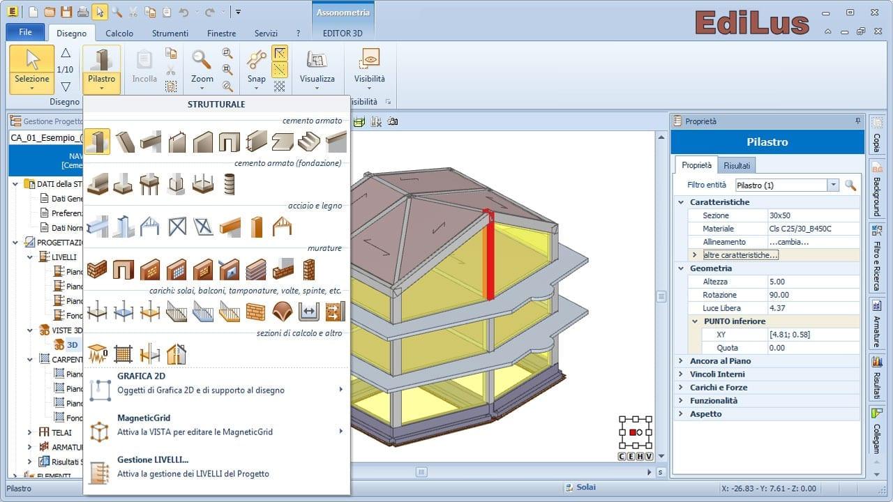 EdiLus-CA - Software BIM per il Calcolo Strutturale