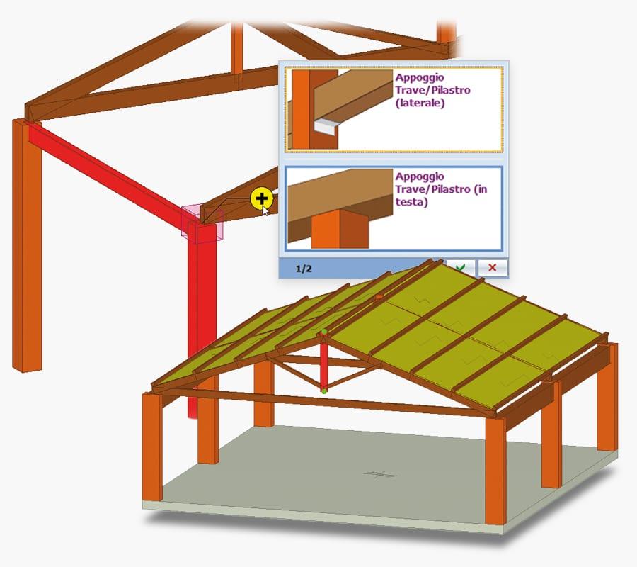 Modellazione ad oggetti per capriate e arcarecci