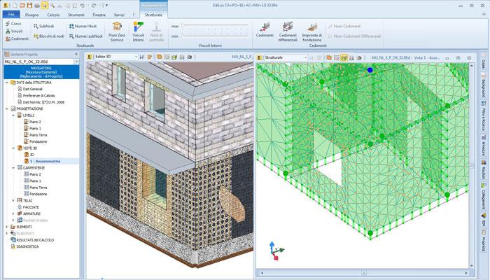 Software Calcolo Strutture Muratura - EdiLus-MU