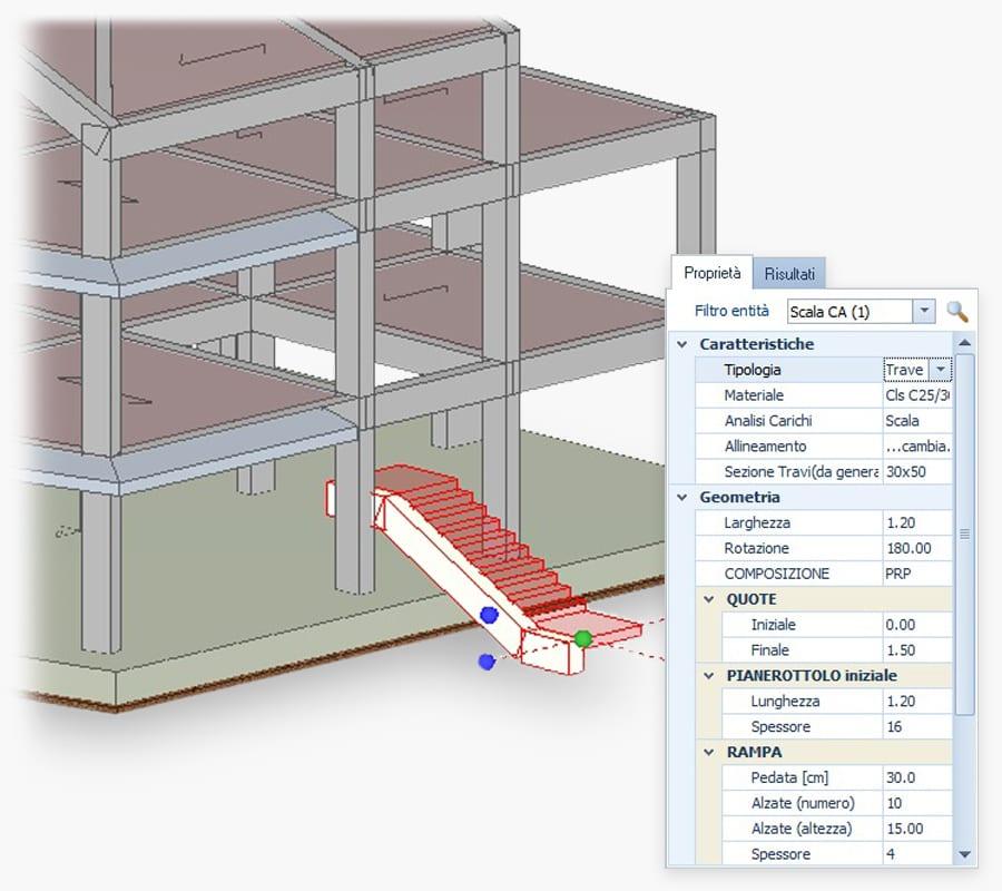 modellazione BIM per calcolo strutturale