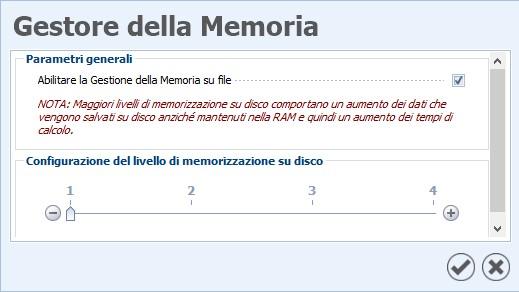 Gestione memoria | Novità EdiLus