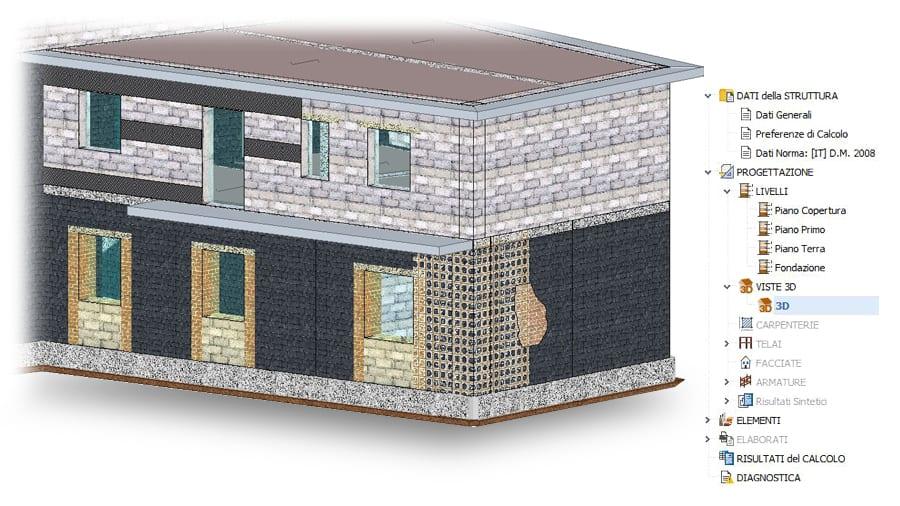 rinforzo strutture miste per adeguamento e miglioramento strutturale