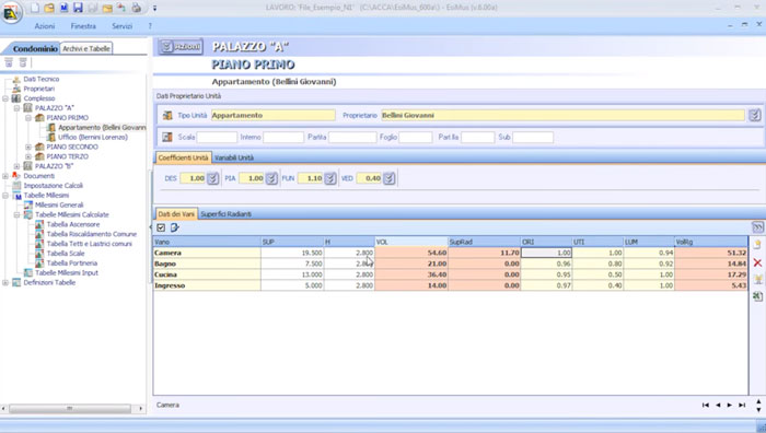 Software Tabelle Millesimali - EsiMus - ACCA software