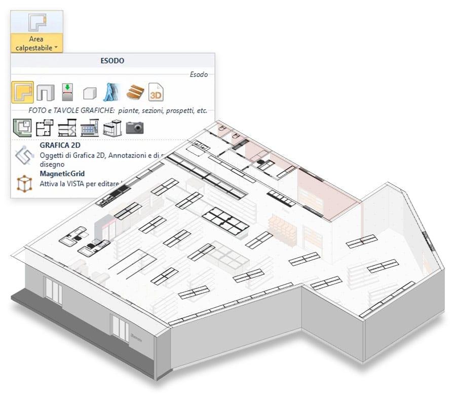 Evacuazione da un file DXF/DWG, da un Raster o da un modello BIM in formato IFC