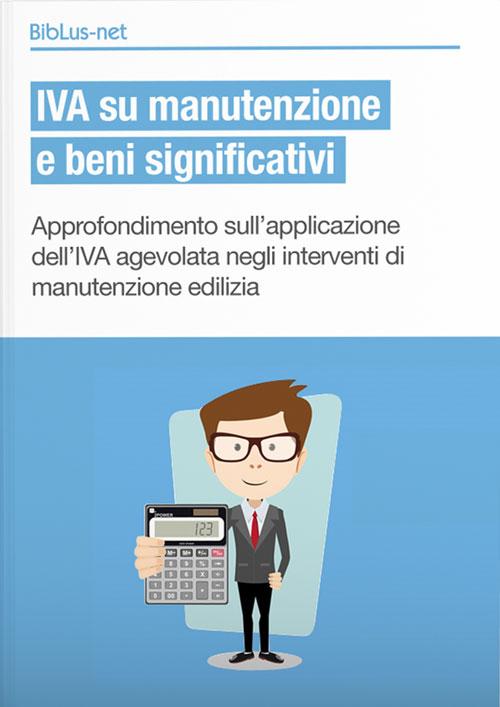 IVA su manutenzione e beni significativi