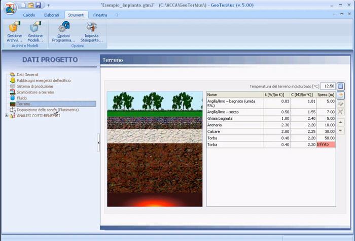 Software Progettazione Impianti Geotermici - GeoTerMus - ACCA software