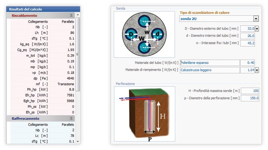 Calcolo scambiatore geotermico ASHRAE