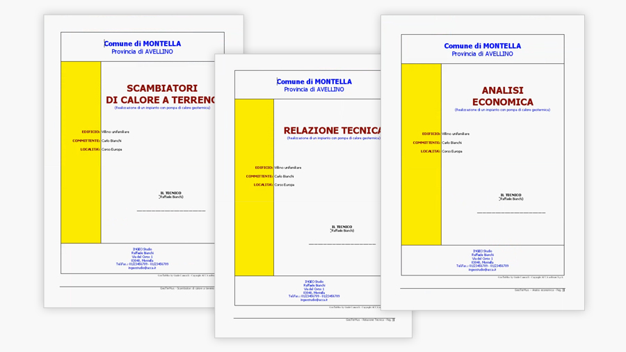 Elaborato tecnico - Relazione progetto impianto geotermico