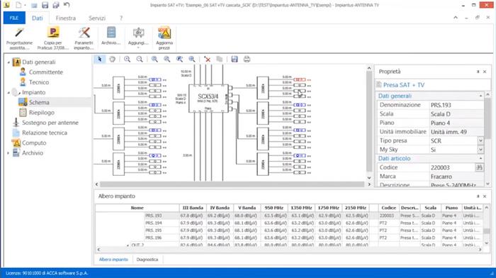 Software Impianto Antenna TV - Impiantus-ANTENNA TV - ACCA software