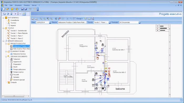Software Progettazione Impianti Idraulici - Impiantus-IDRALICO - ACCA software