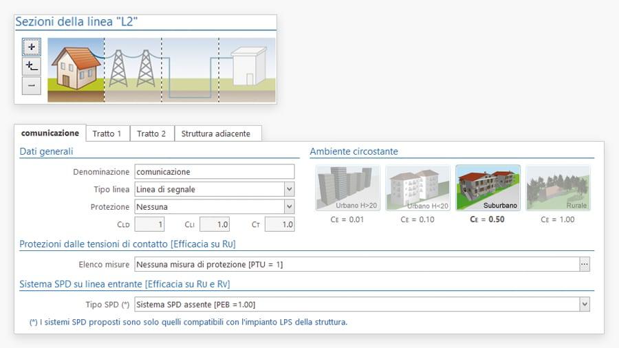 Input guidato valutazione rischio fulminazione - ACCA software