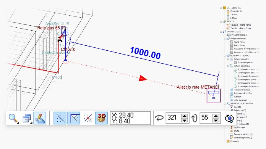 CAD ad oggeti progettazione reti gas