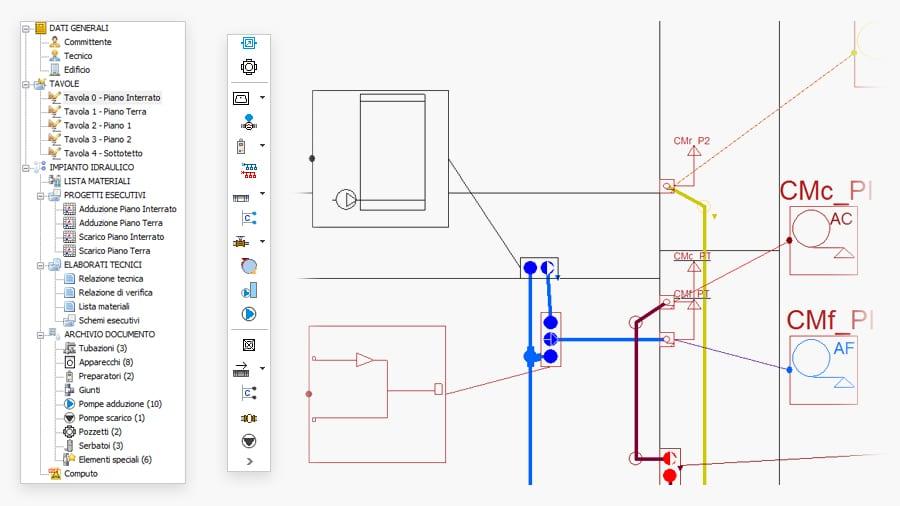 CAD impianto idraulico