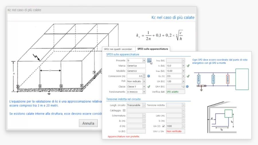 Calcolo delle corrente di fulmine - ACCA software